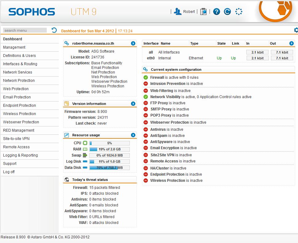 Astaro Releases Beta of Version 9 to be called Sophos UTM 9